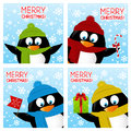 Set of Christmas greeting cards Royalty Free Stock Photo