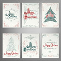 Set Of Christmas Greeting Cards. Royalty Free Stock Photo