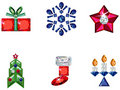 Set of christmas or holiday elements made from pre Royalty Free Stock Images