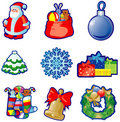 Set of Christmas icons Royalty Free Stock Photos