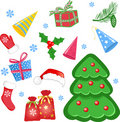 Set of christmas icons Royalty Free Stock Image