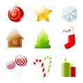 Set of christmas icons Royalty Free Stock Images