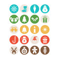 Set of christmas icons for design Royalty Free Stock Photos