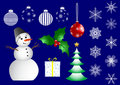 Set of christmas icons. vector. Royalty Free Stock Photography