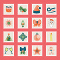 Set of christmas icons vector this is file eps format Royalty Free Stock Photo