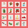 Set of christmas icons vector this is file eps format Stock Photo