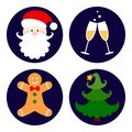 Set of christmas icons. Vector illustration EPS10