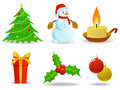 Set of  christmas images. Stock Photo