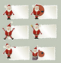 Set of christmas label Santa Claus Stock Image