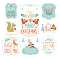 Set of christmas lettering and graphic elements Royalty Free Stock Photo