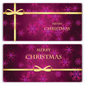 Set of Christmas and New Year banners with snowflakes
