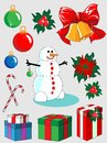 Set of Christmas and New Year decorations Stock Photography