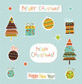 Set of Christmas and New Year elements. Vector Royalty Free Stock Photo