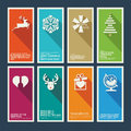 Set of christmas and new year greeting cards card templates Royalty Free Stock Images