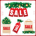 Set for christmas and new year sales icons Royalty Free Stock Photography