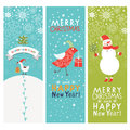 Set of Christmas and New Years banners Royalty Free Stock Image