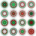 Set of Christmas ornaments Royalty Free Stock Images