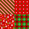 Set of christmas patterns this is file eps format Stock Photo