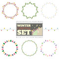 Set of 6 Christmas round frames. Includes six pattern brushes
