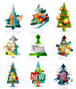 Set of Christmas sale or promotion price tags, New