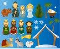 Set of Christmas scene elements Royalty Free Stock Photo