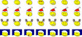 Set of christmas smileys (vector) Royalty Free Stock Image