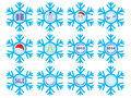 Set of Christmas snowflakes Royalty Free Stock Photo