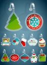 Set of Christmas stickers. Stock Photos
