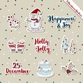 Christmas stickers-snowman Warm wishes theme