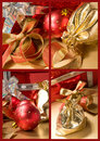 Set of Christmas still lifes Stock Photos