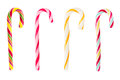 Set of Christmas striped candy canes Royalty Free Stock Photo