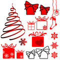 Set of Christmas symbols Stock Photos