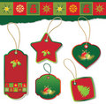 Set of christmas tag Royalty Free Stock Images