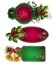 Set of Christmas tags Stock Image