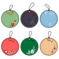 Set of Christmas Tags Royalty Free Stock Images