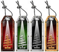 Set of Christmas Tags - 4 items Stock Image
