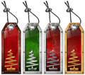 Set of Christmas Tags - 4 items Royalty Free Stock Photo