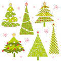 Set of Christmas tree Royalty Free Stock Photo
