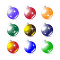 A set of Christmas tree balls Stock Photography