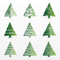 A set of  Christmas trees Royalty Free Stock Images