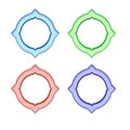 Set of circle frames colorful shaped or labels Royalty Free Stock Photos