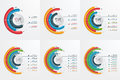 Set of circle infographic templates with 3-8 options. Royalty Free Stock Photo