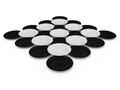 Set of circles black and white three dimentonal Royalty Free Stock Image