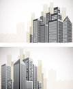 Set of cityscape banners Royalty Free Stock Photos