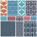 Set of classic seamless patterns. Royalty Free Stock Image