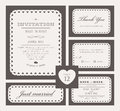 Set of classic wedding invitations and announcements Royalty Free Stock Images