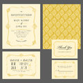 Set of classic wedding invitations and announcements Royalty Free Stock Photo