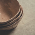 A set of clay bowls Royalty Free Stock Photo
