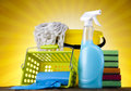 Set of cleaning products Royalty Free Stock Photo