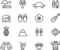 Set of Clip Art Hawaiian Icons Symbols